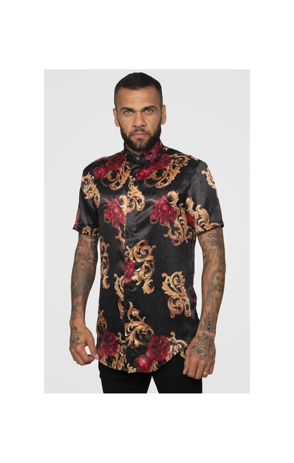 SikSilk x Dani Alves Resort Shirt - Floral Animal (3)