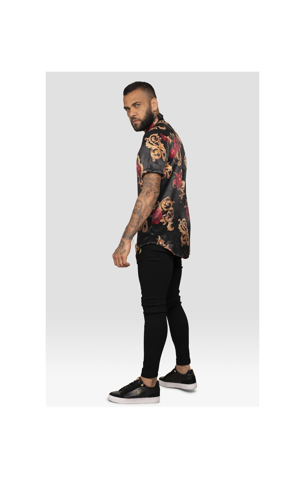 SikSilk x Dani Alves Resort Shirt - Floral Animal (6)