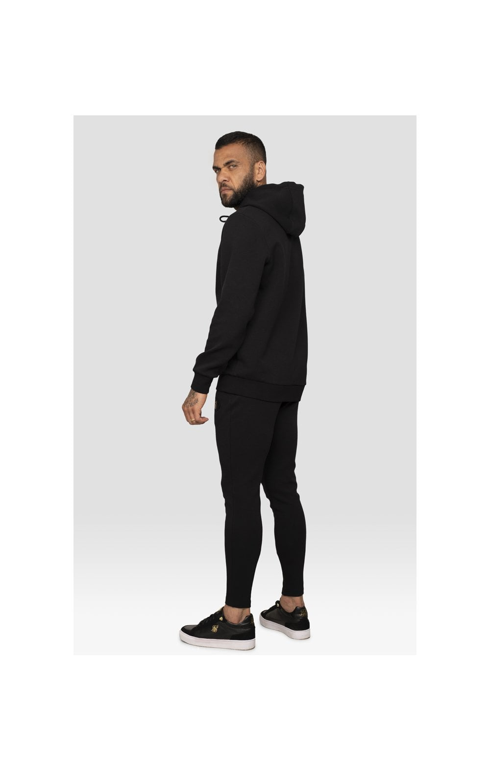Load image into Gallery viewer, SikSilk x Dani Alves Muscle Fit Overhead Hoodie – Black (3)