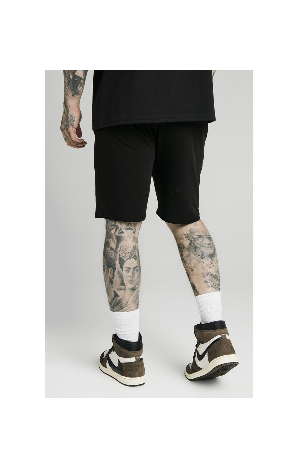 SikSilk Jersey Shorts - Black (1)