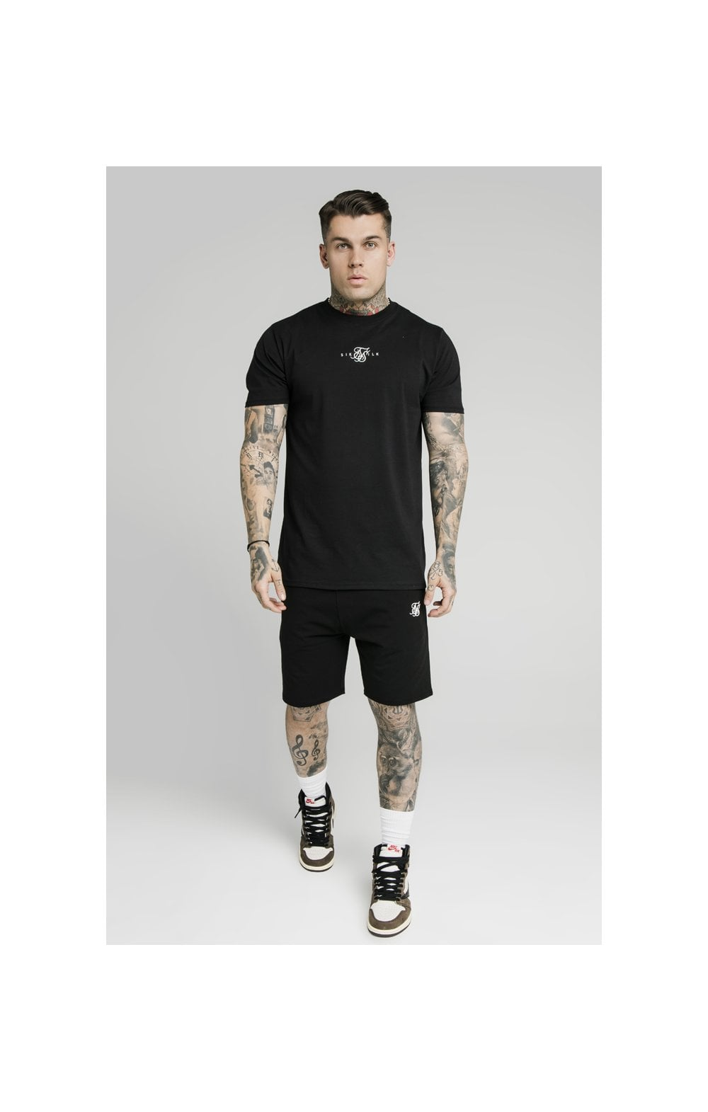 SikSilk Jersey Shorts - Black (3)