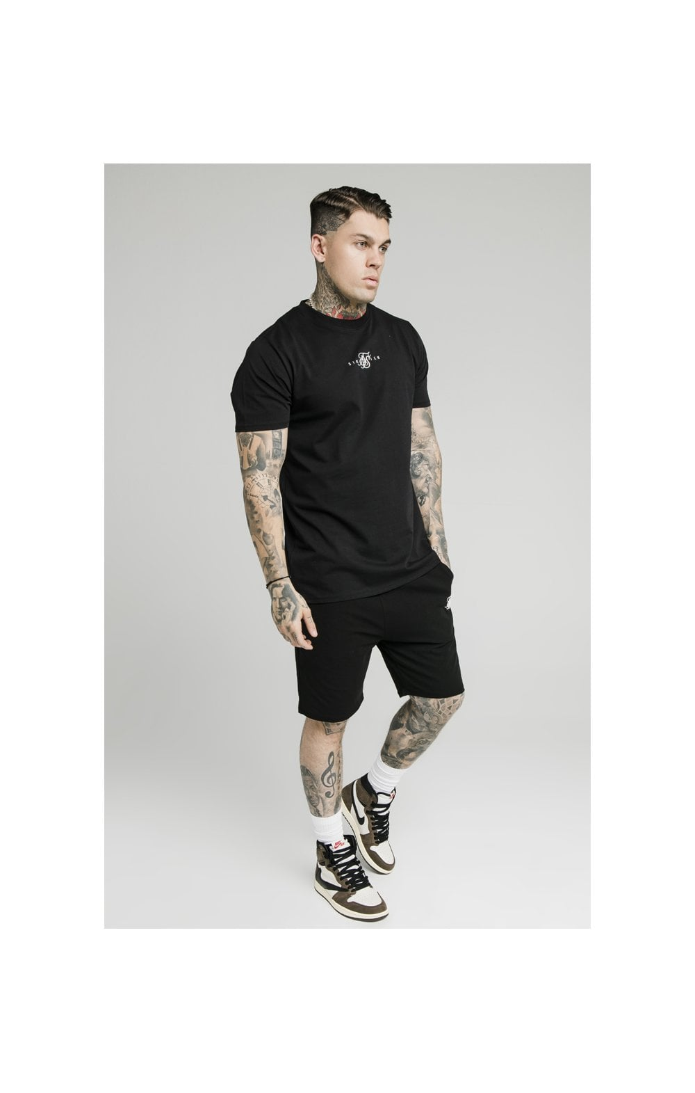 SikSilk Jersey Shorts - Black (5)