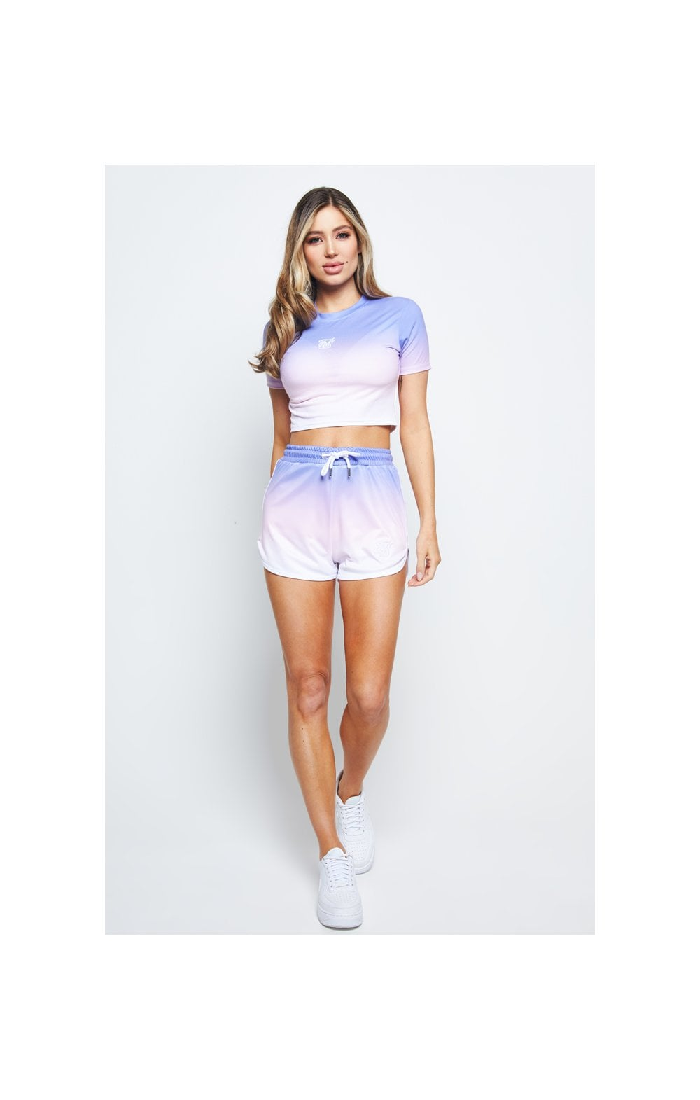 SikSilk Fade Crop Tee – Multi (3)