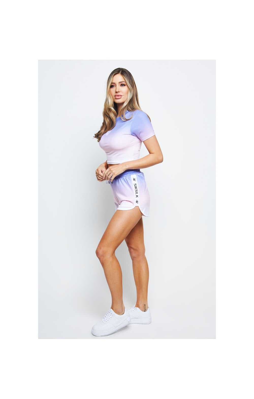 SikSilk Fade Crop Tee – Multi (5)