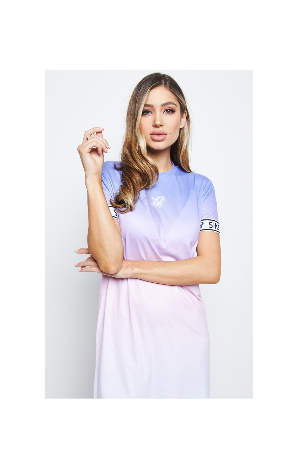 SikSilk Fade T-Shirt Dress - Multi