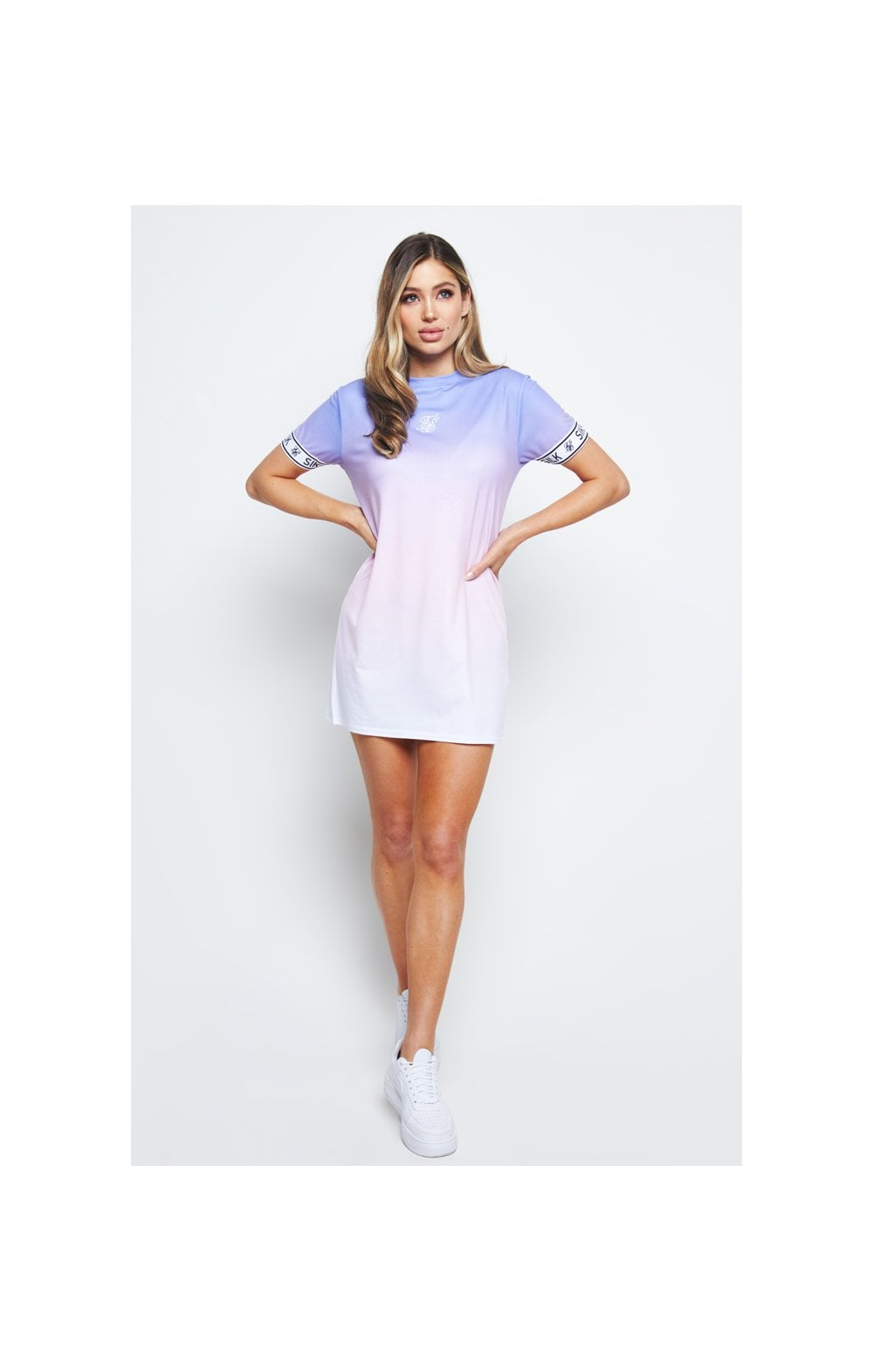 SikSilk Fade T-Shirt Dress - Multi (2)