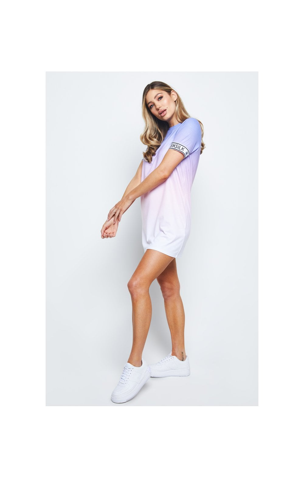SikSilk Fade T-Shirt Dress - Multi (4)