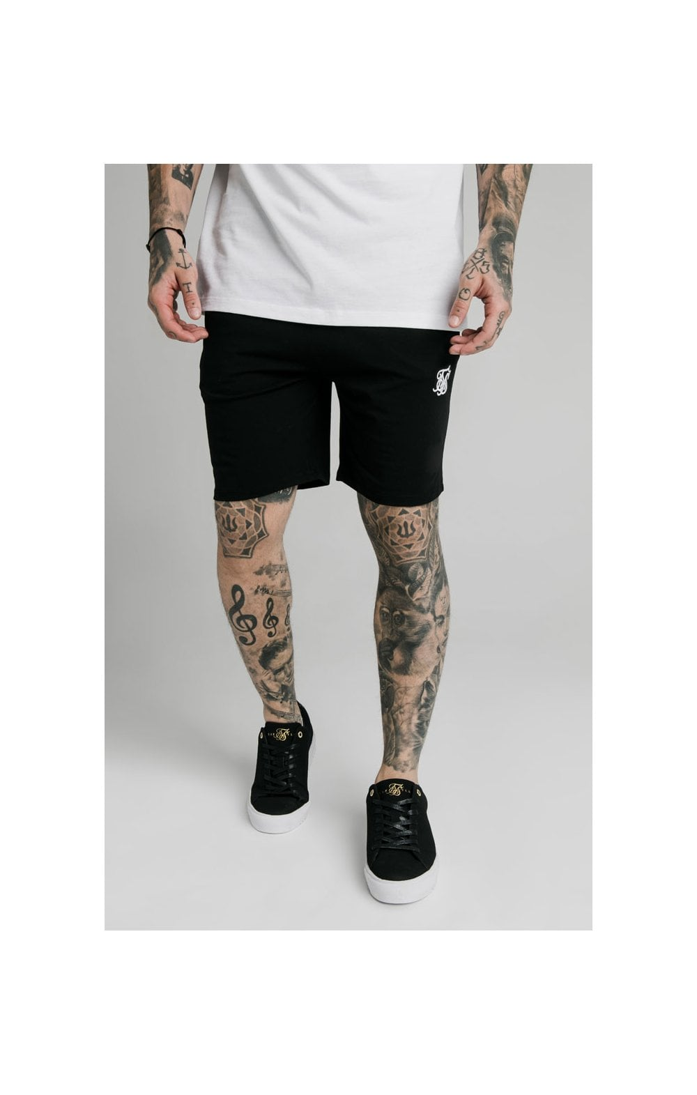 SikSilk Jersey Shorts - Black MEN SIZES BOTTOM: Extra Small 28in