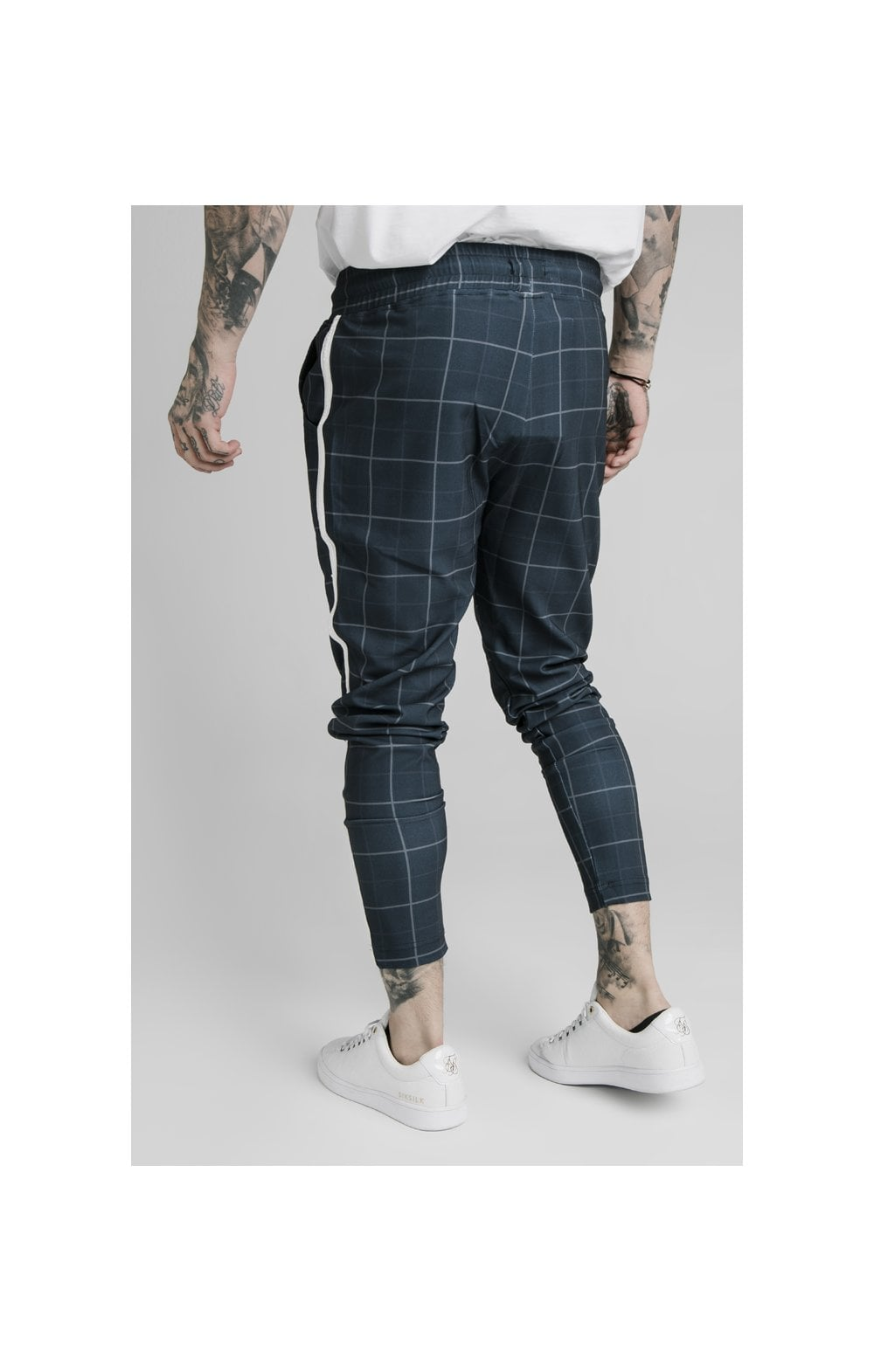 SikSilk Smart Fitted Tape Pants - Navy (5)