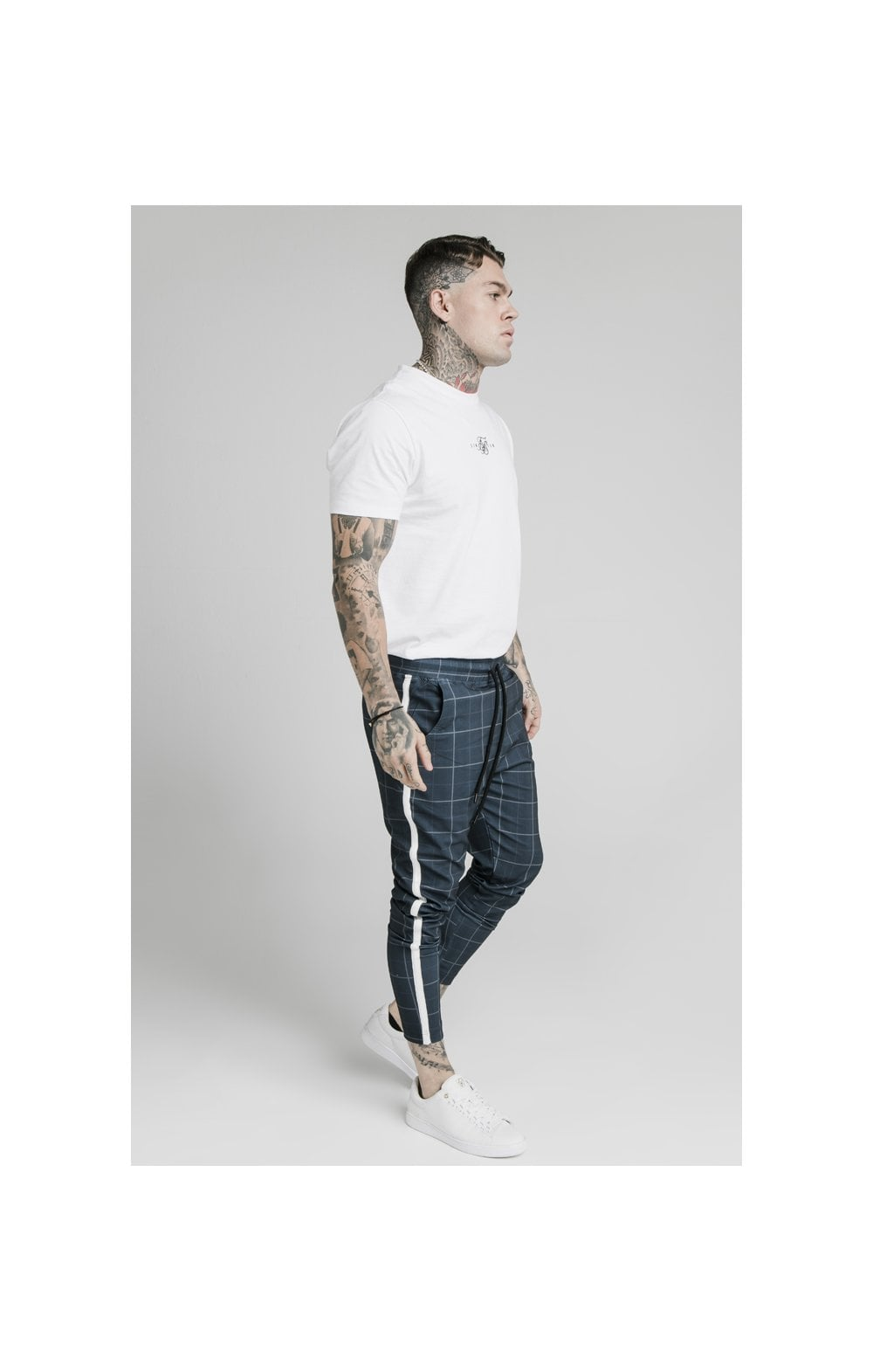SikSilk Smart Fitted Tape Pants - Navy (4)