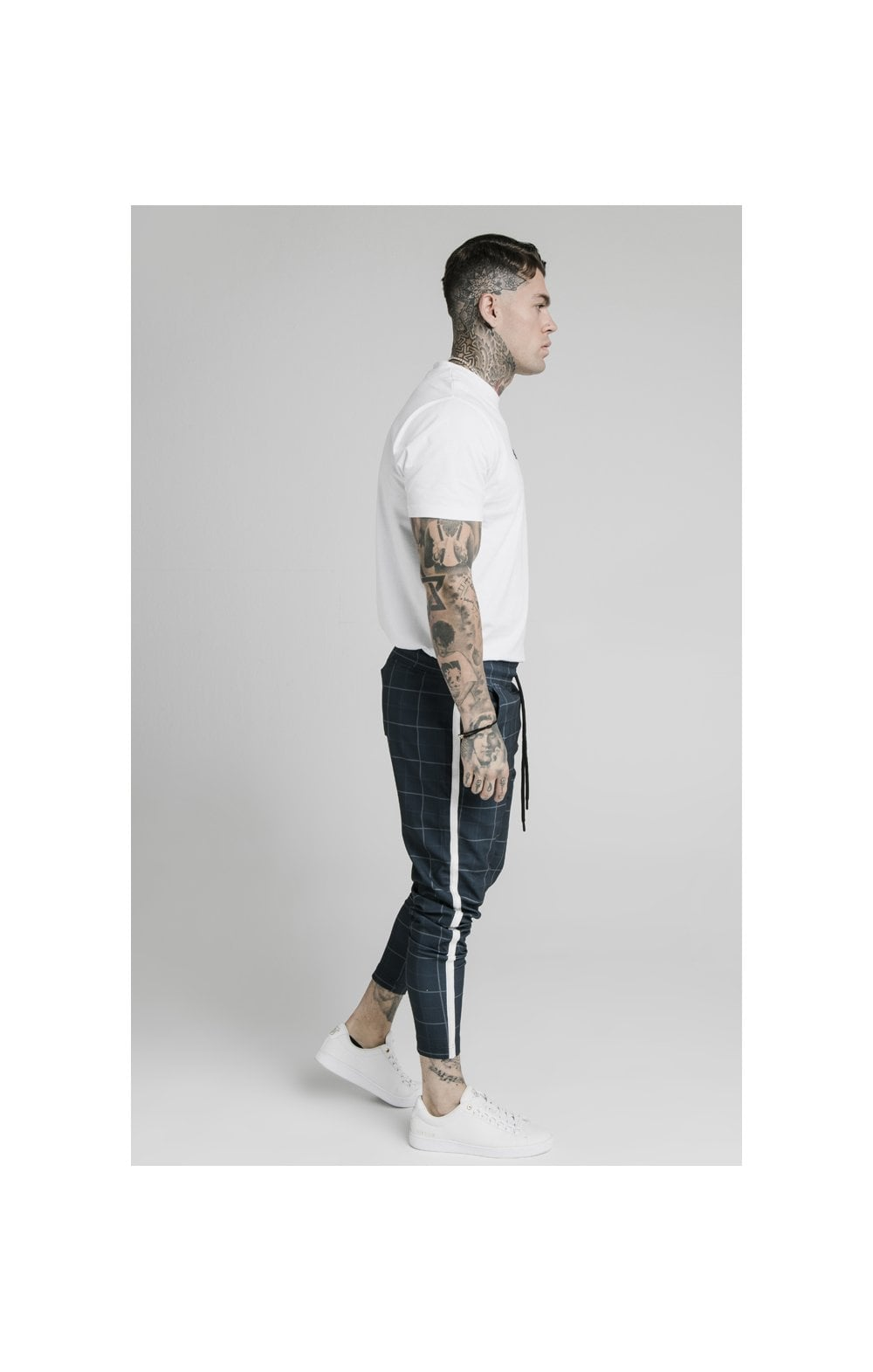 SikSilk Smart Fitted Tape Pants - Navy (3)