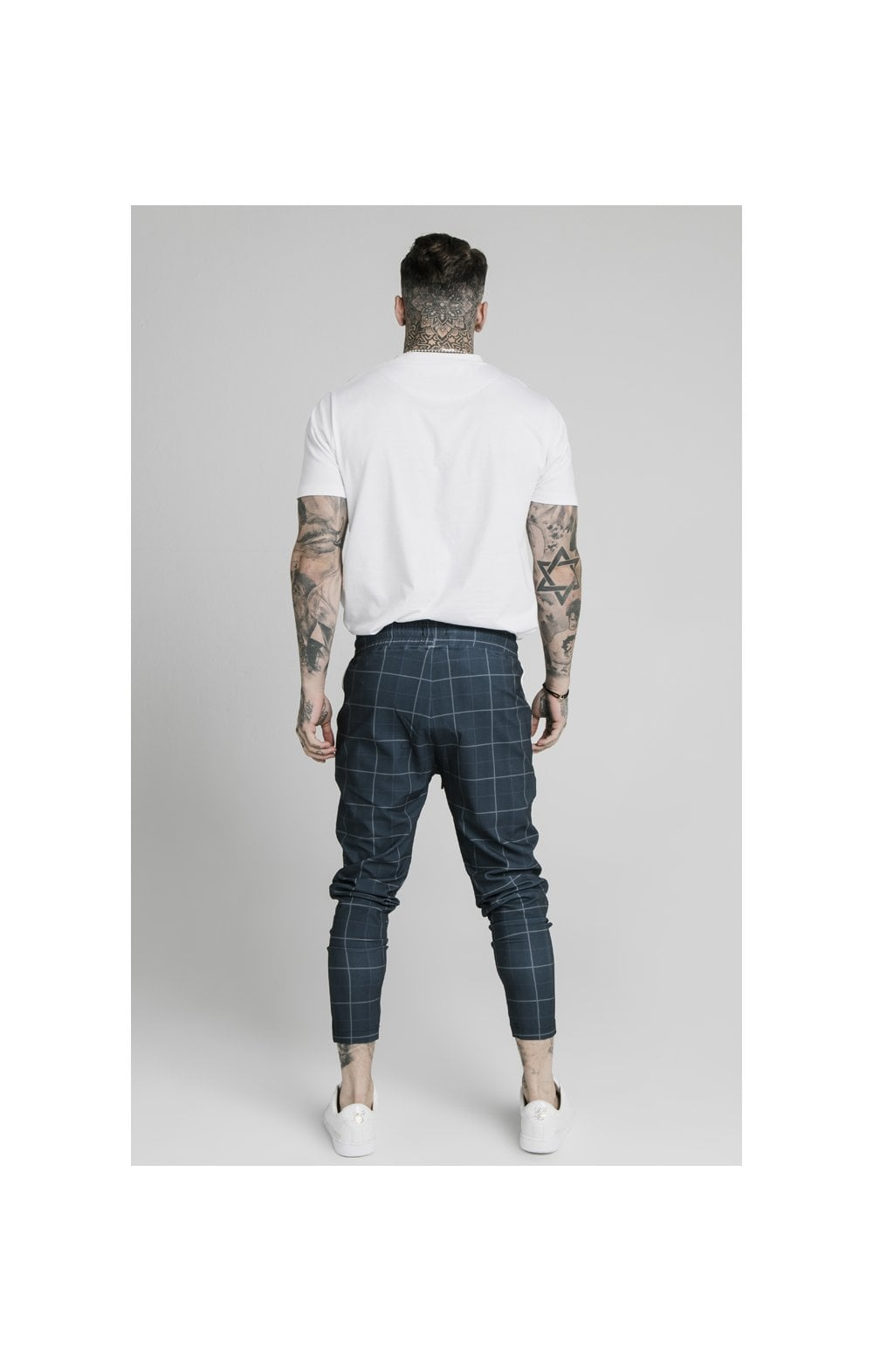 SikSilk Smart Fitted Tape Pants - Navy (6)