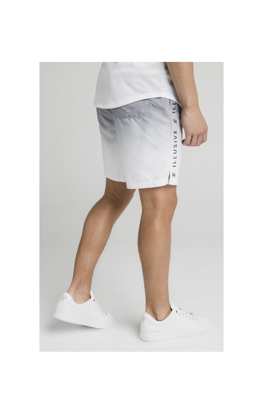 Load image into Gallery viewer, Illusive London Fade Swim Shorts - Grey & White (4)