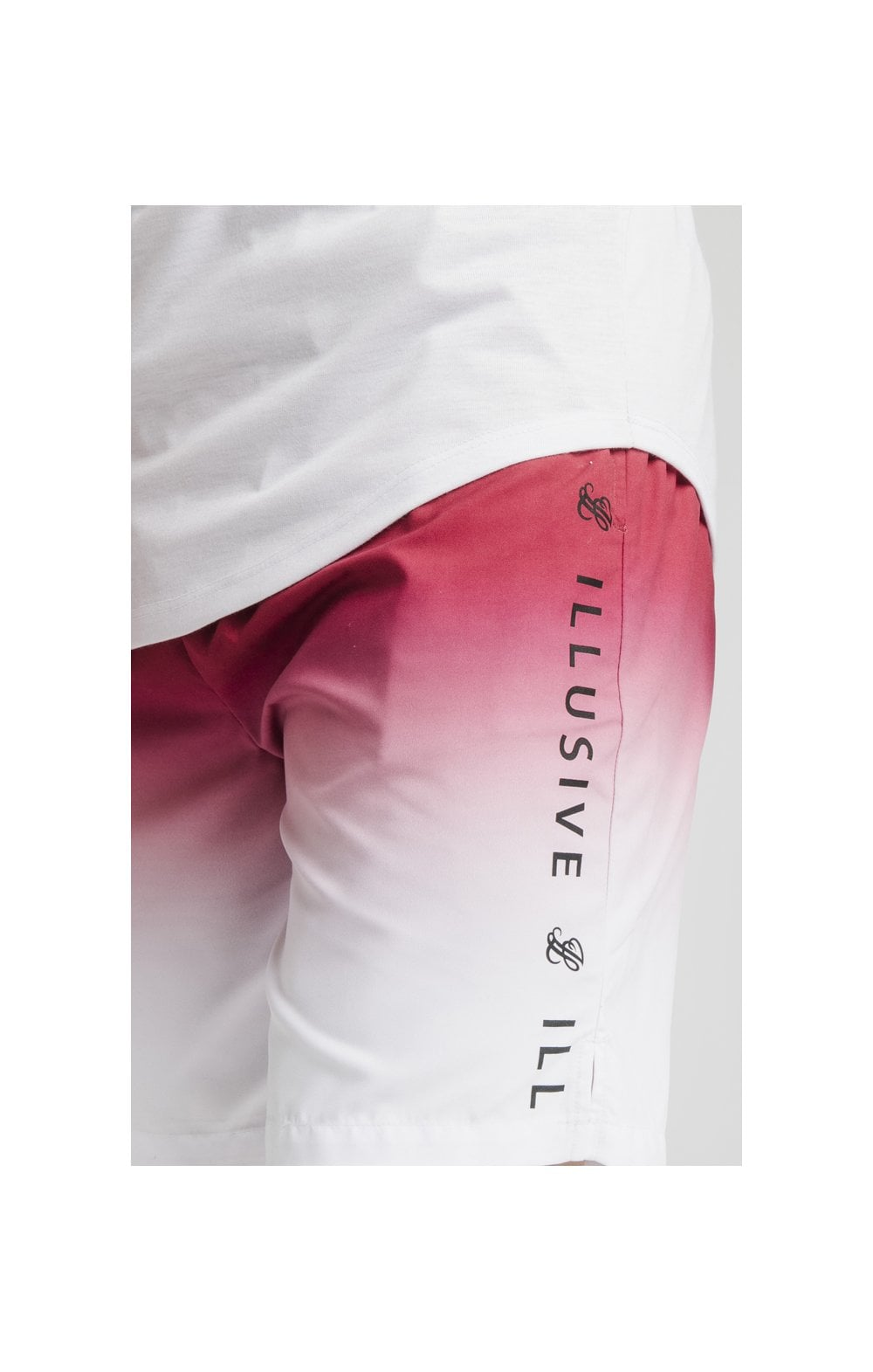 Illusive London Fade Swim Shorts - Red & White