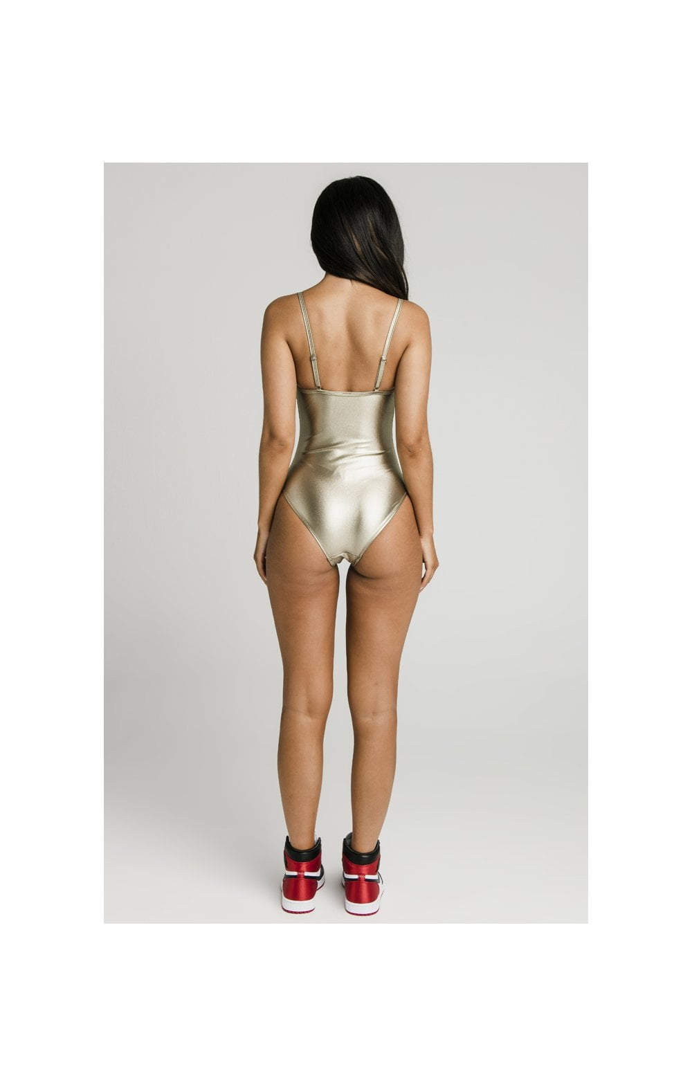 Load image into Gallery viewer, SikSilk Metalic Swimsuit - Gold (5)