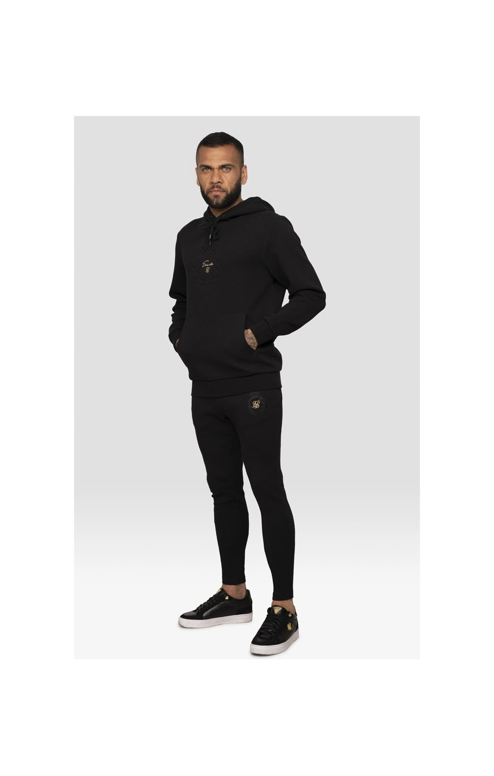 Load image into Gallery viewer, SikSilk x Dani Alves Muscle Fit Overhead Hoodie – Black