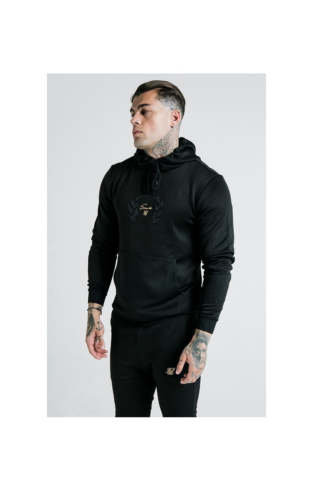 Load image into Gallery viewer, SikSilk x Dani Alves Muscle Fit Overhead Hoodie – Black (2)