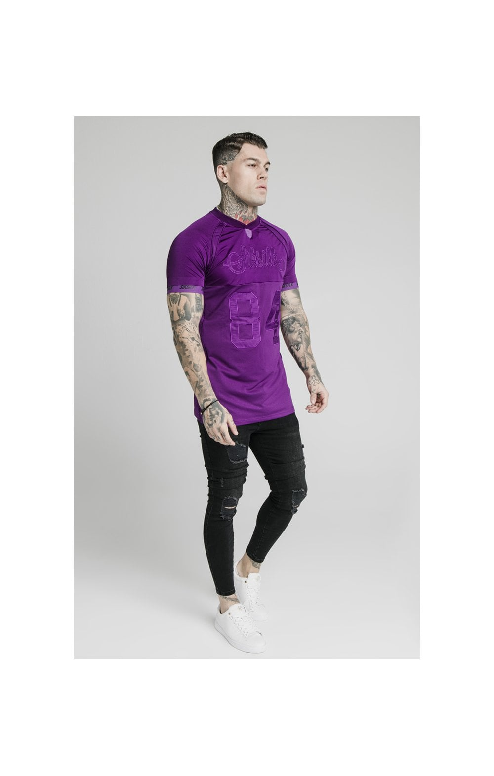 Load image into Gallery viewer, SikSilk Stretch Sports Tee - Purple (3)