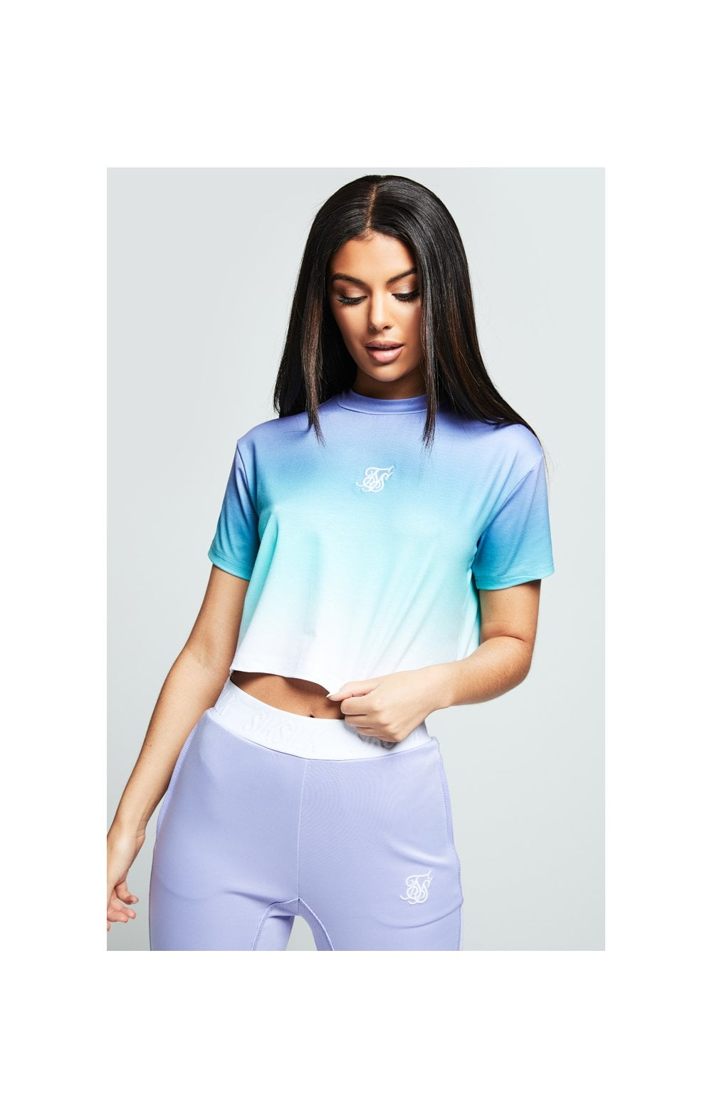 SikSilk Lilac Haze Tee - Lilac, Turquoise & White WOMEN SIZES: 6-XXS