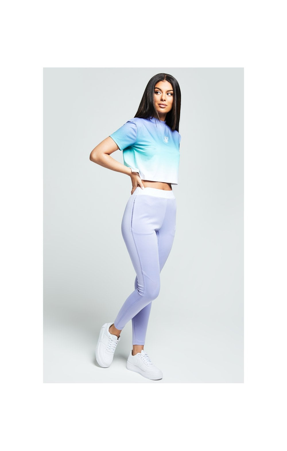 Load image into Gallery viewer, SikSilk Lilac Haze Tee - Lilac, Turquoise & White (1)