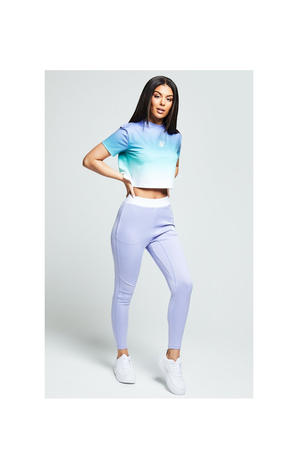 Load image into Gallery viewer, SikSilk Lilac Haze Tee - Lilac, Turquoise & White (2)