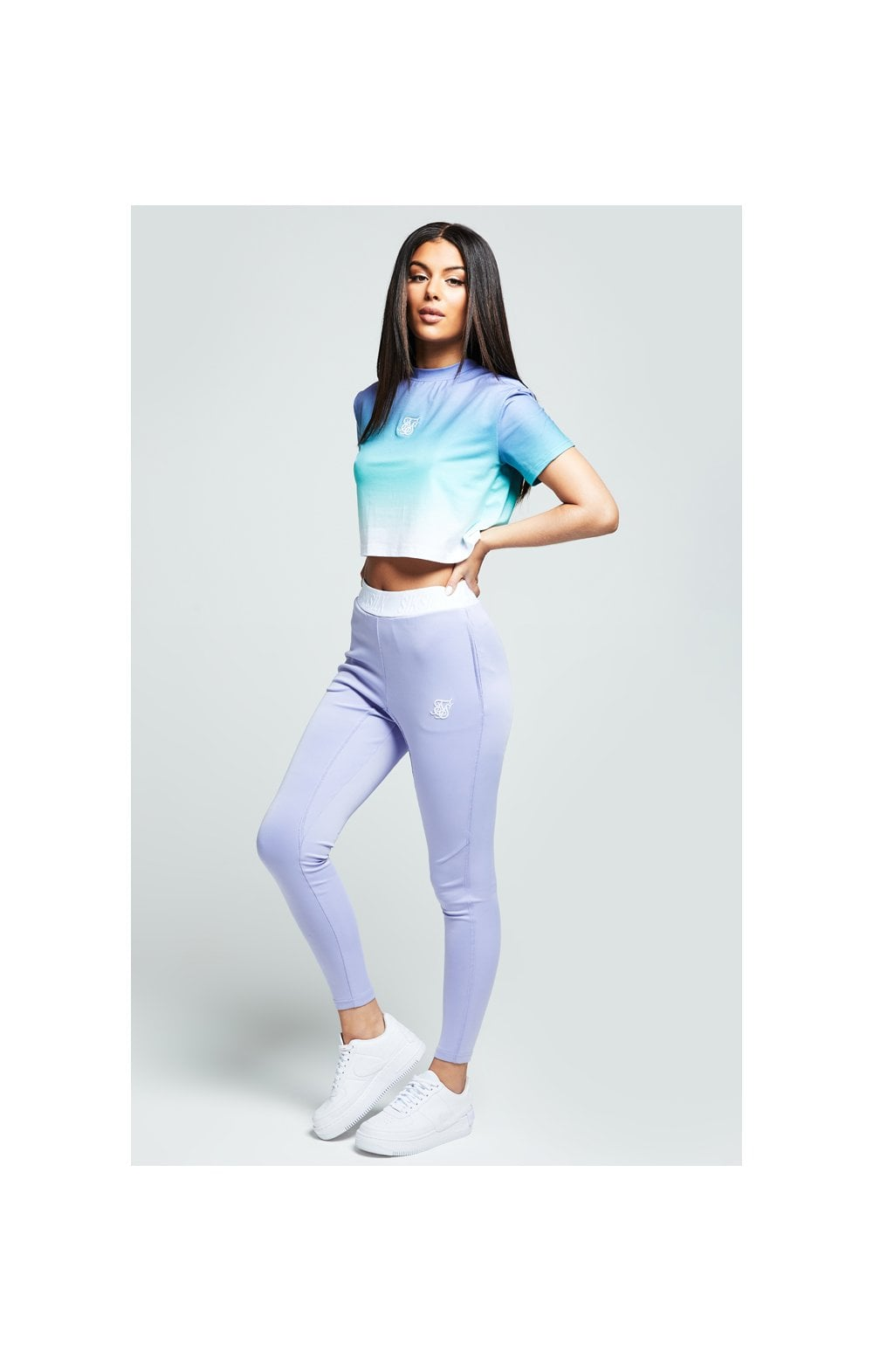Load image into Gallery viewer, SikSilk Lilac Haze Tee - Lilac, Turquoise & White (3)