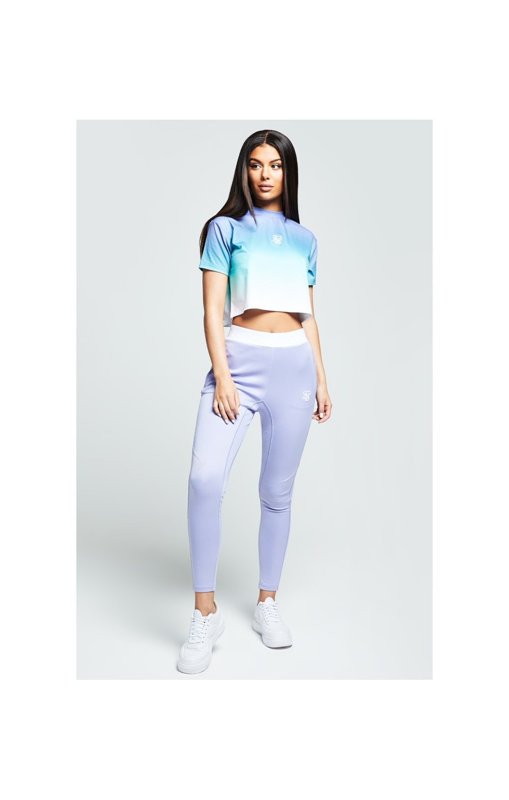 Load image into Gallery viewer, SikSilk Lilac Haze Tee - Lilac, Turquoise & White (4)