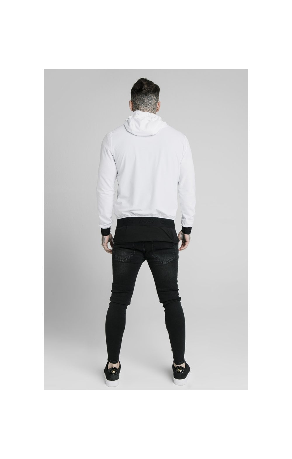SikSilk Agility Poly Rib Zip Through Hoodie - White (5)