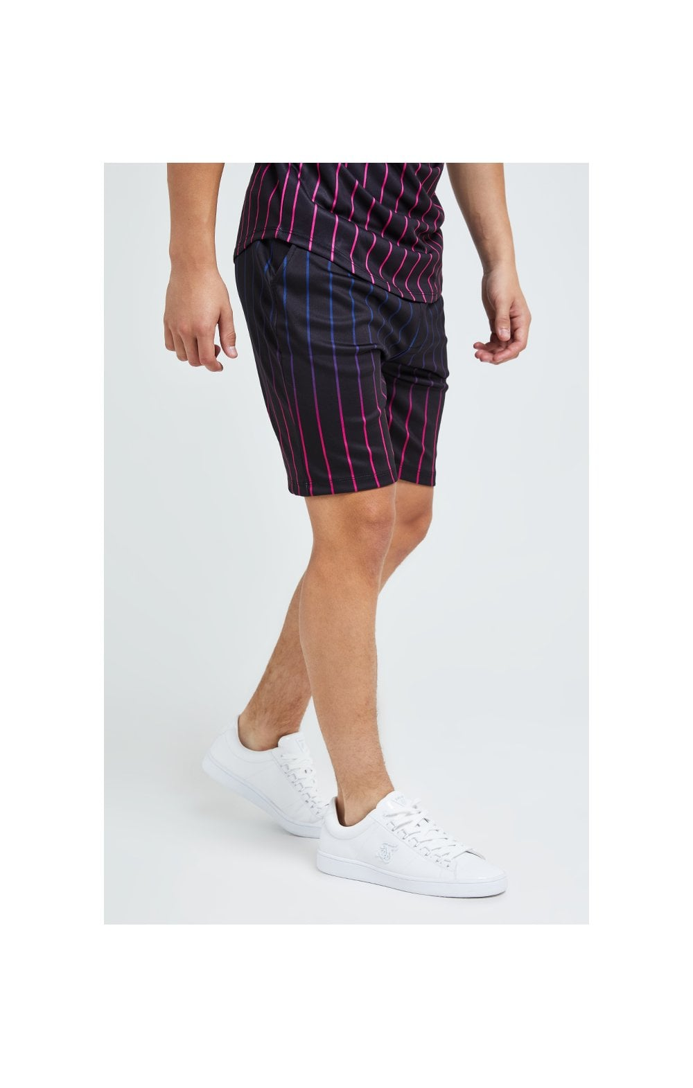 Illusive London Fade Stripe Shorts - Black (1)