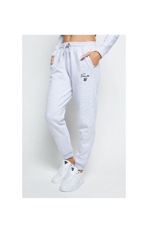 SikSilk Prestige Track Pants - Grey Marl