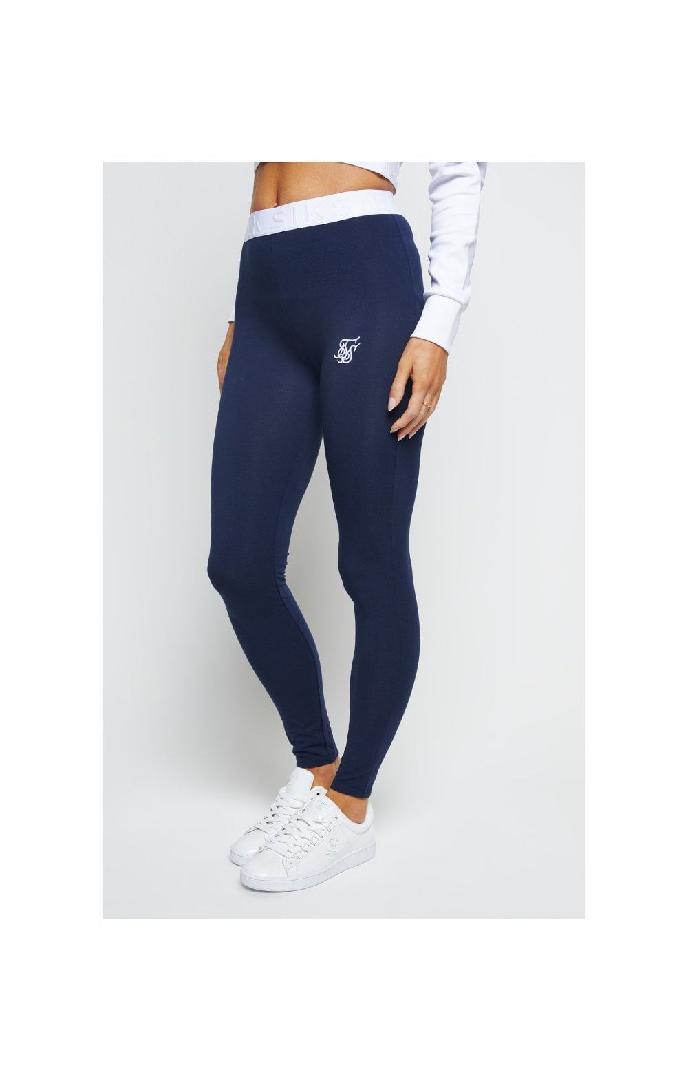 SikSilk Tape Waist Leggings - Navy