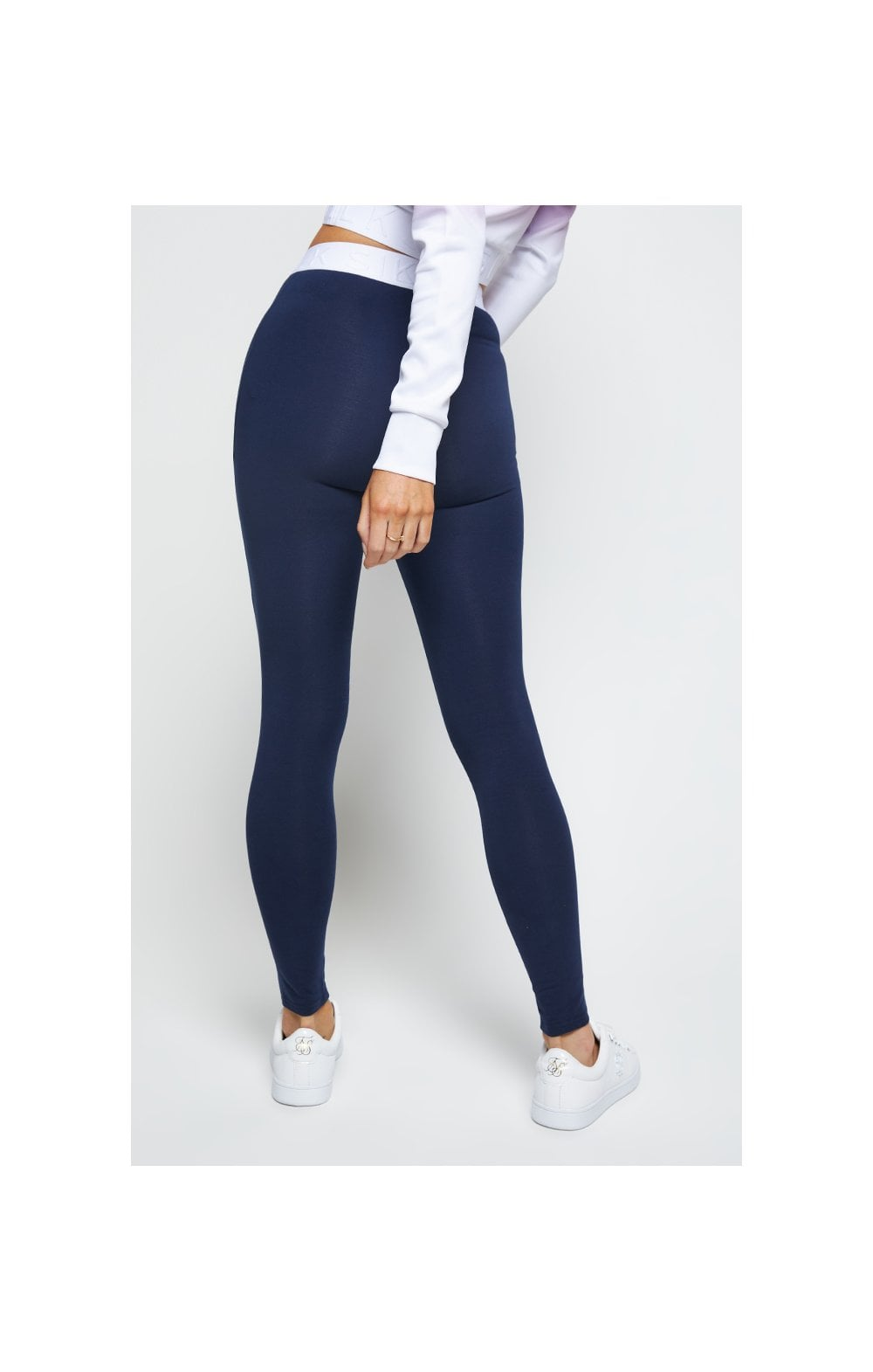 SikSilk Tape Waist Leggings - Navy (1)