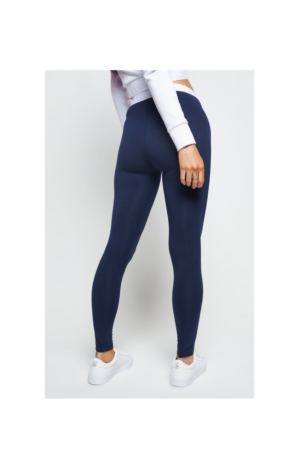 SikSilk Tape Waist Leggings - Navy (3)