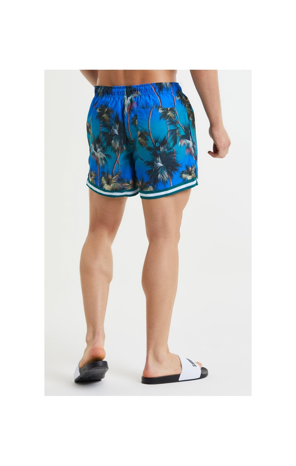 SikSilk Palm Swim Shorts - Blue & Green (4)