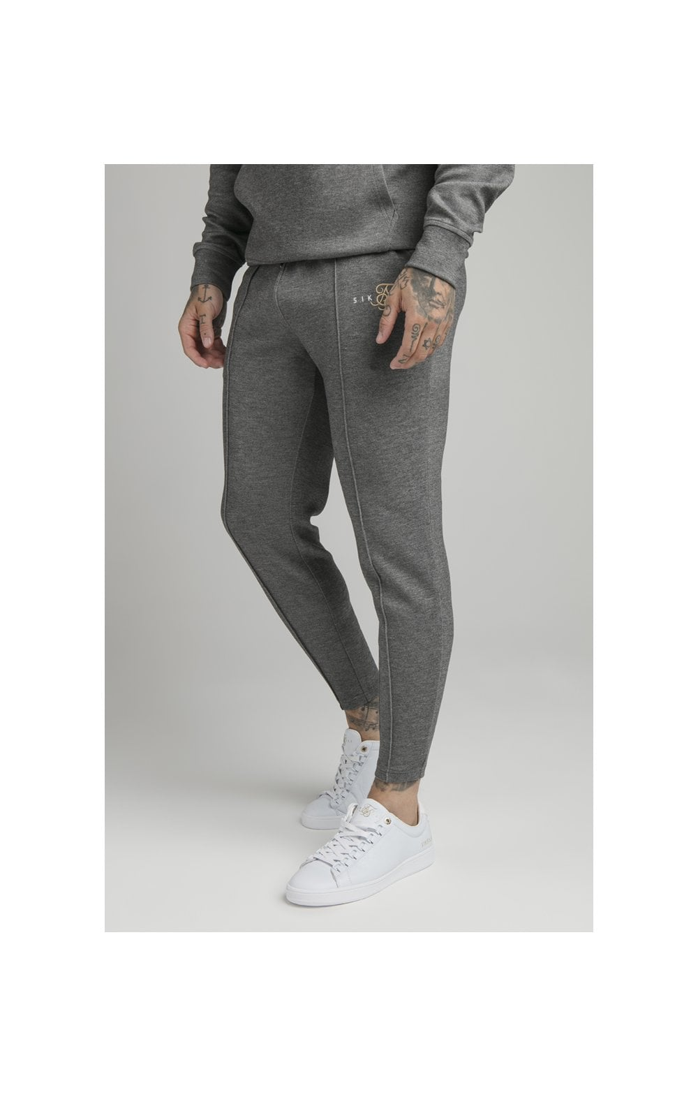 Load image into Gallery viewer, SikSilk Dual Logo Pant - Grey