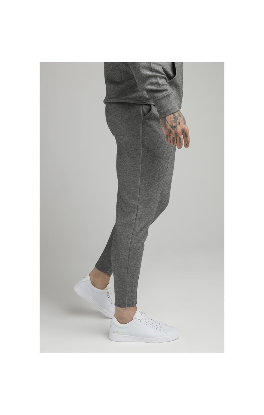 Load image into Gallery viewer, SikSilk Dual Logo Pant - Grey (1)