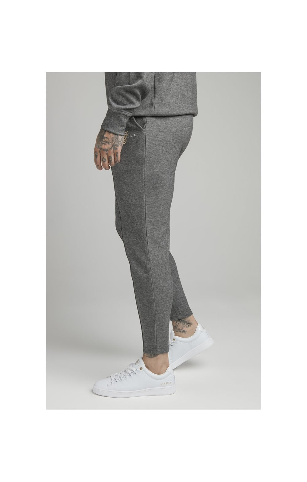 Load image into Gallery viewer, SikSilk Dual Logo Pant - Grey (2)