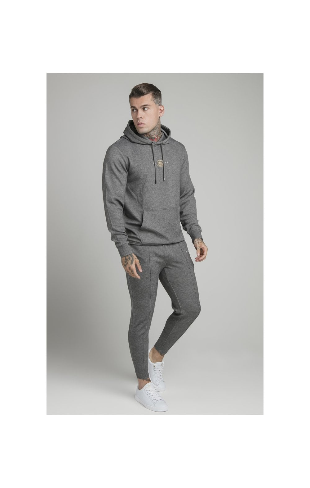 Load image into Gallery viewer, SikSilk Dual Logo Pant - Grey (4)
