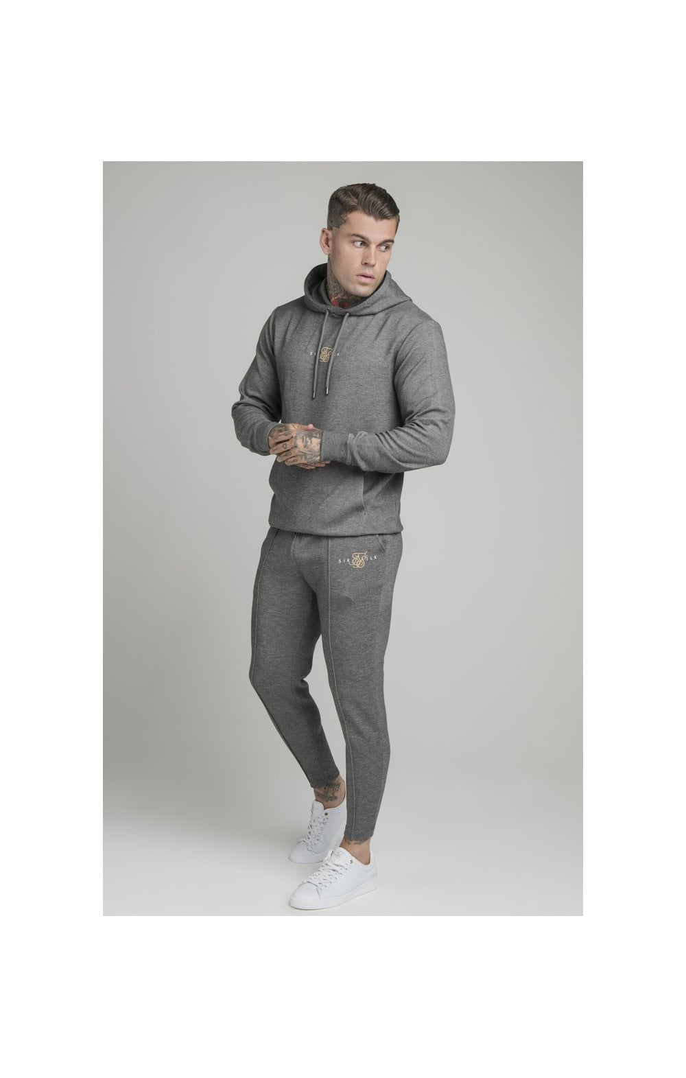 Load image into Gallery viewer, SikSilk Dual Logo Pant - Grey (5)