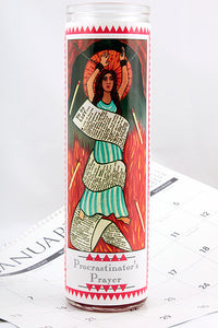 Procrastinator's Funny Prayer Candle