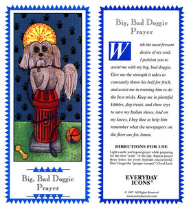 Big Bad Doggie Prayer Candle