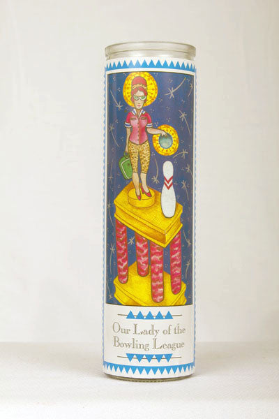 Our Lady of The Bowling League Prayer Candle