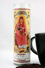 Load image into Gallery viewer, Our Lady of Abundant Caffeine Prayer Candle