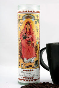 Our Lady of Abundant Caffeine Prayer Candle