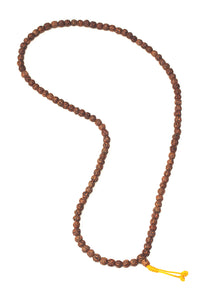 Golden Rudraksha Mala Beads with Macrame Tie 8.5mm bead size