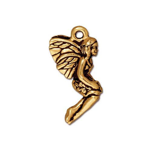 Antique Gold Fairy Pendant or Charm from TierraCast