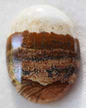 African Queen Picture Jasper Cabochon - Enhances your connection to Earth