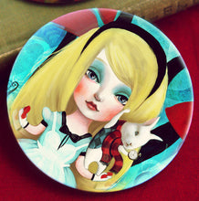 Load image into Gallery viewer, Alice Pocket Mirror 3 inches big and lightweight!