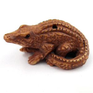 Alligator Ojime Bead