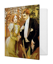Load image into Gallery viewer, Alphonse Mucha Flirt 1.4 inch Avery 3-Ring Binder